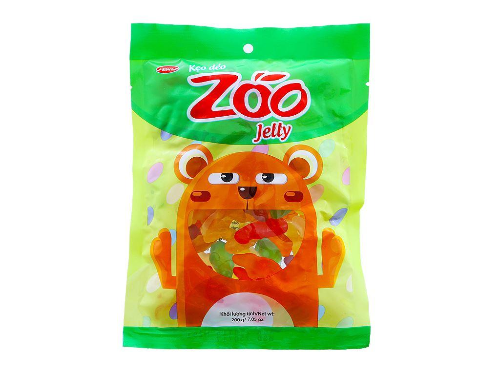 Kẹo dẻo hương trái cây Bibica Zoo Jelly gói 200g 1