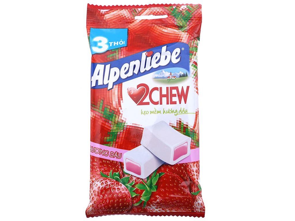 Kẹo mềm hương dâu Alpenliebe 2Chew gói 73.5g (3 thanh) 1
