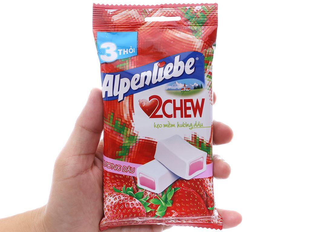 Kẹo mềm hương dâu Alpenliebe 2Chew gói 73.5g (3 thanh) 3