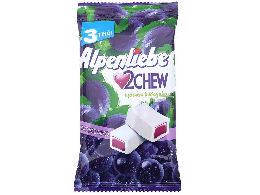 Kẹo mềm hương nho 2Chew Alpenliebe gói 73.5g (3 thanh) 1