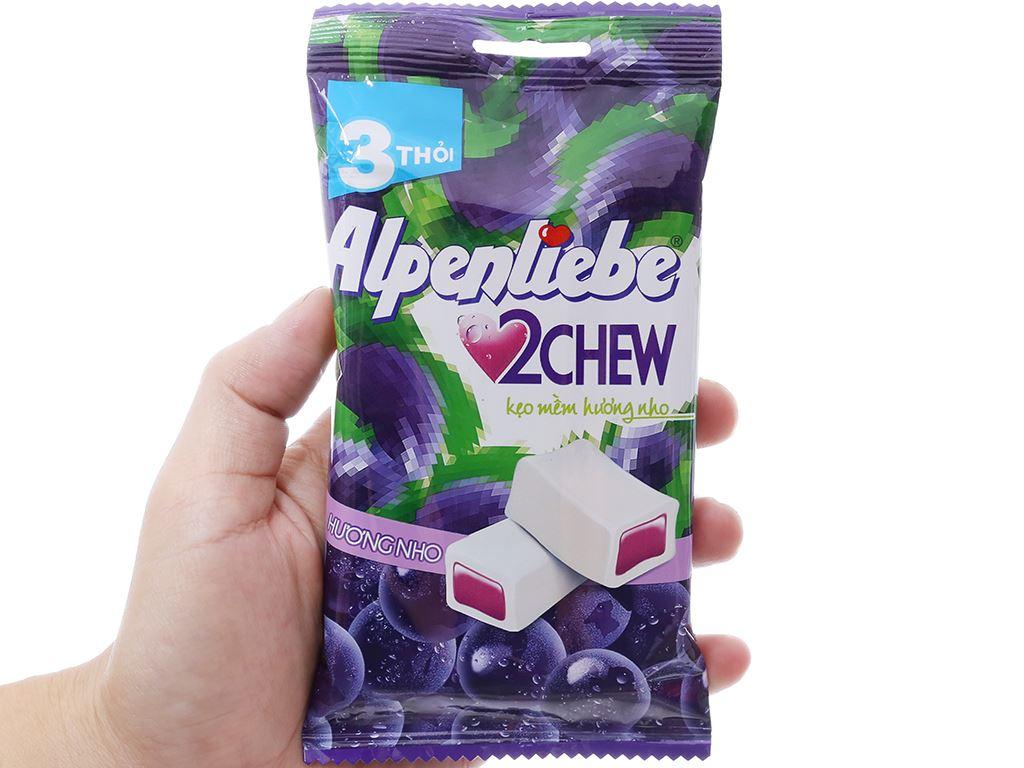 Kẹo mềm hương nho Alpenliebe 2Chew gói 73.5g (3 thanh) 3