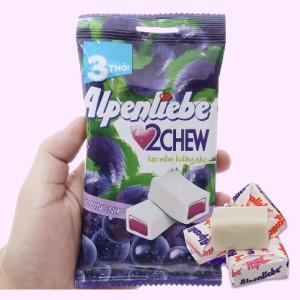 Kẹo mềm hương nho Alpenliebe 2Chew gói 73.5g (3 thanh)