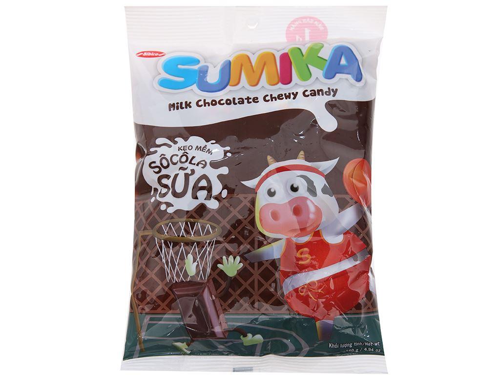 Kẹo mềm socola sữa Sumika gói 140g 1