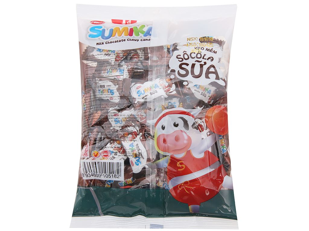 Kẹo mềm socola sữa Sumika gói 140g 2