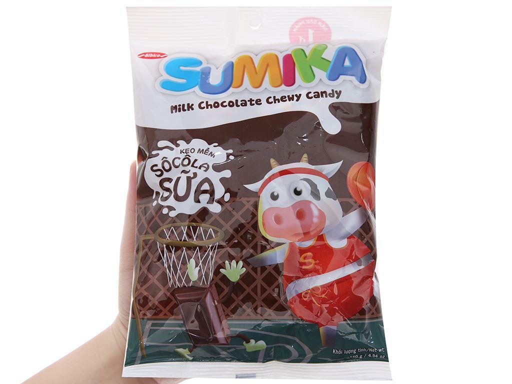 Kẹo mềm socola sữa Sumika gói 140g 3