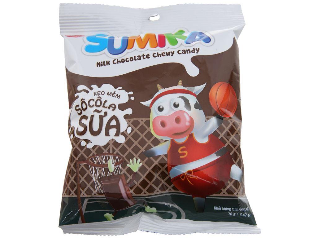 Kẹo mềm socola sữa Sumika gói 70g 1