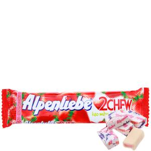 Kẹo mềm hương dâu 2Chew Alpenliebe thanh 24.5g