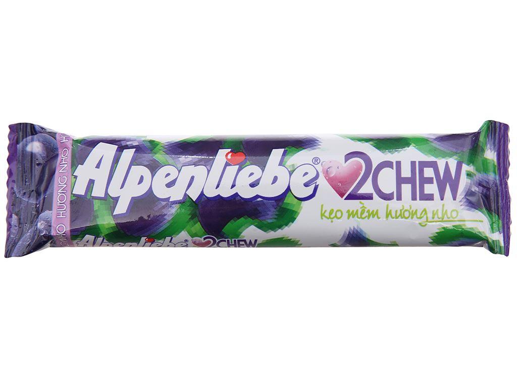 Kẹo mềm hương nho 2Chew Alpenliebe thanh 24.5g 1