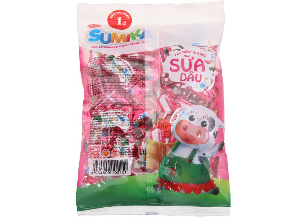Kẹo mềm hương sữa dâu Sumika gói 140g 2