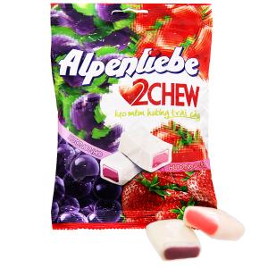 Kẹo mềm hương trái cây Alpenliebe 2Chew gói 87.5g