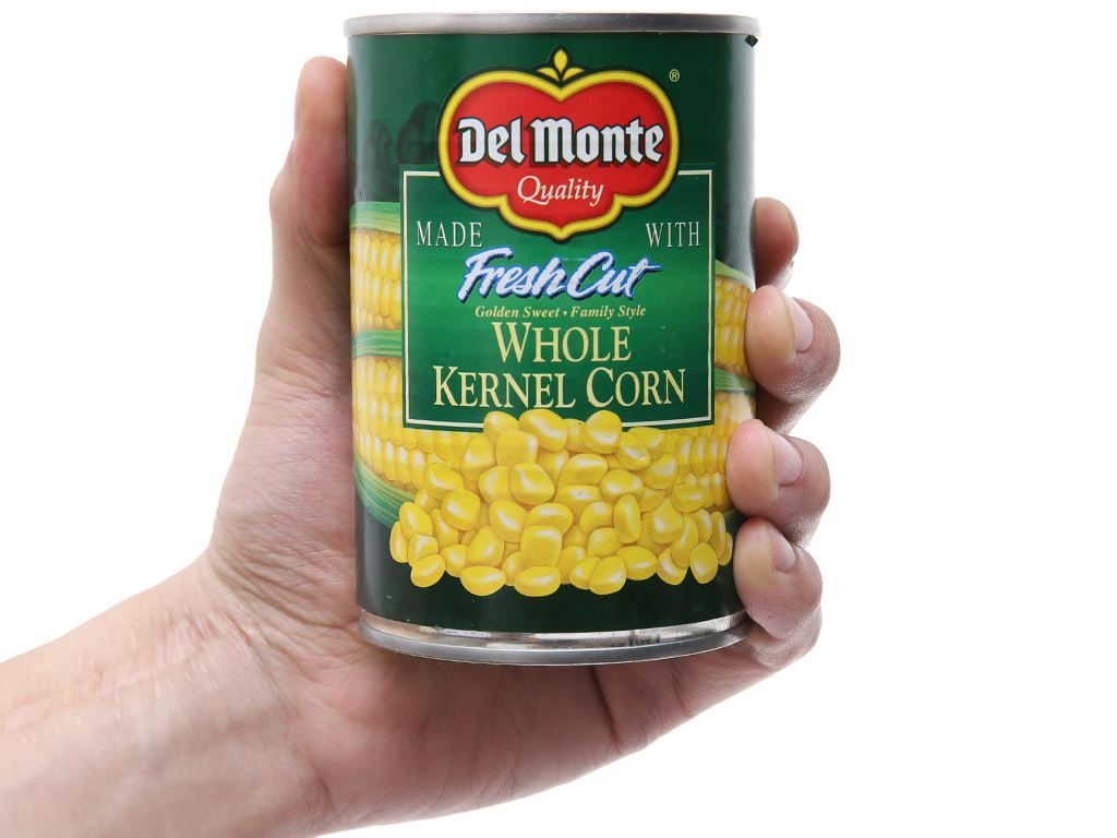 Bắp ngọt nguyên hạt Del Monte hộp 420g 1