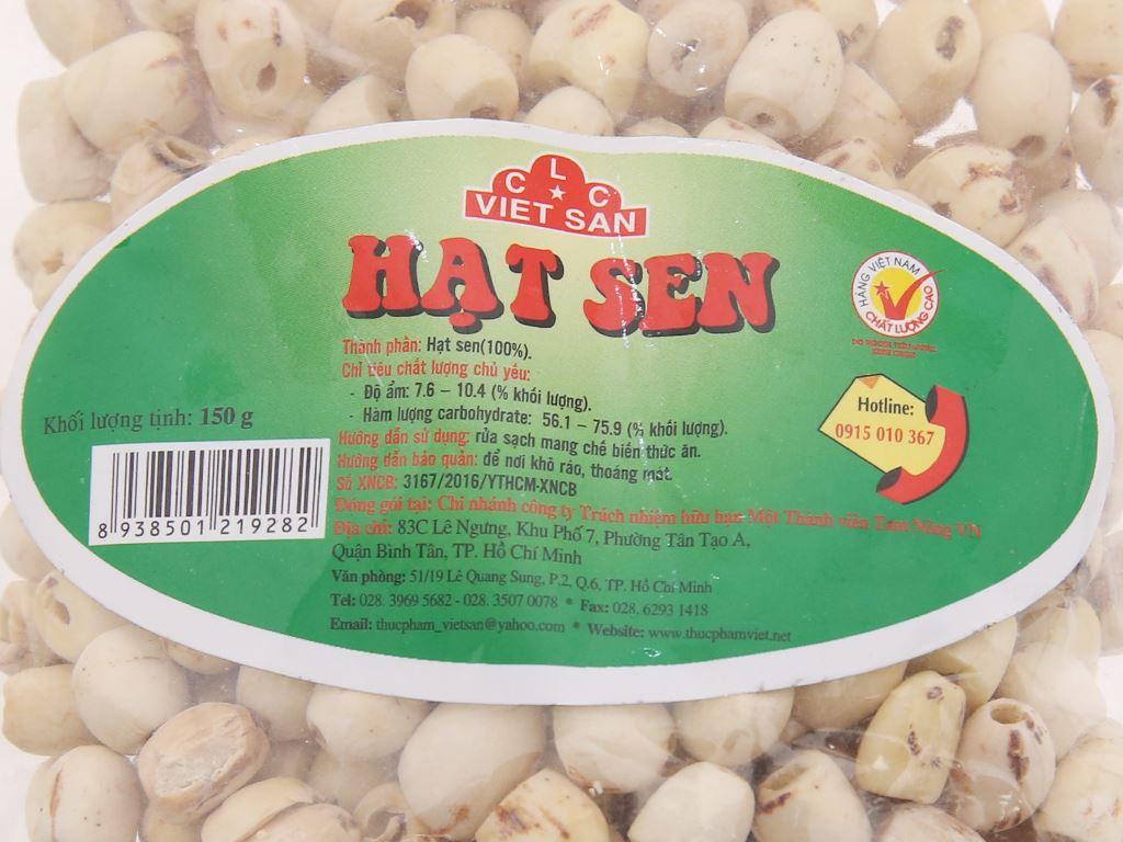 Hạt sen khô Việt San gói 150g 4