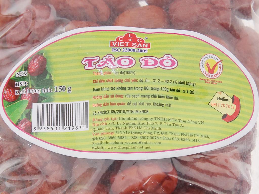 Táo đỏ Việt San gói 150g 4