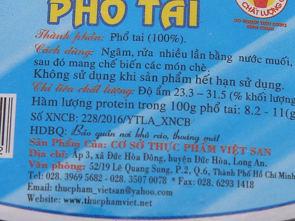 Phổ tai Việt San gói 100g 4