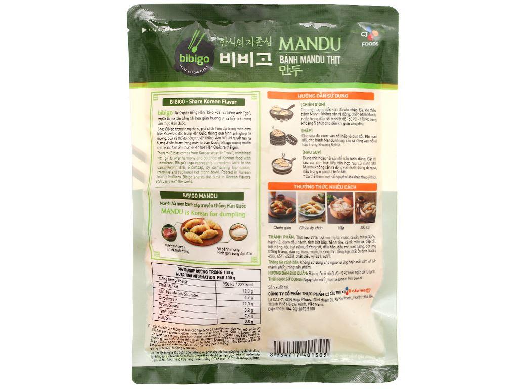Bánh xếp Hàn Quốc nhân thịt Bibigo gói 175g 6