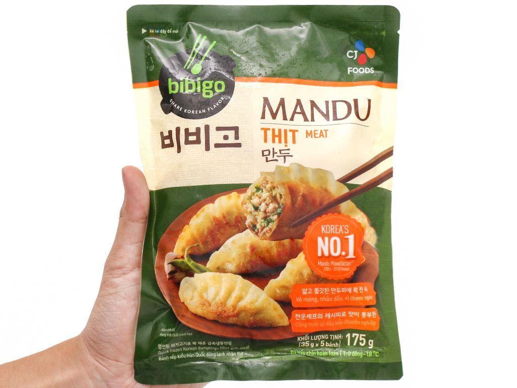 Bánh xếp Hàn Quốc nhân thịt Bibigo gói 175g 8