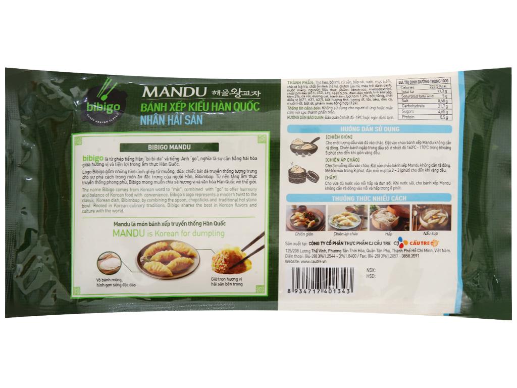 Bánh xếp Hàn Quốc nhân hải sản Bibigo gói 175g 2