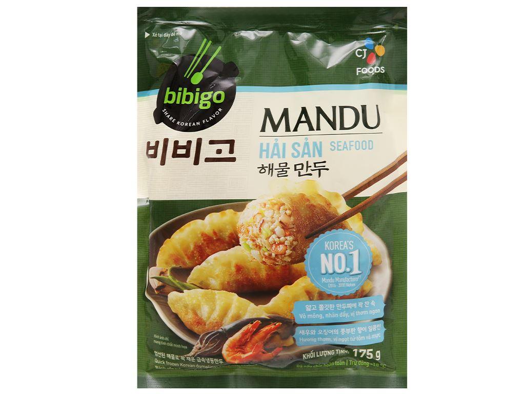 Bánh xếp Hàn Quốc nhân hải sản Bibigo gói 175g 1