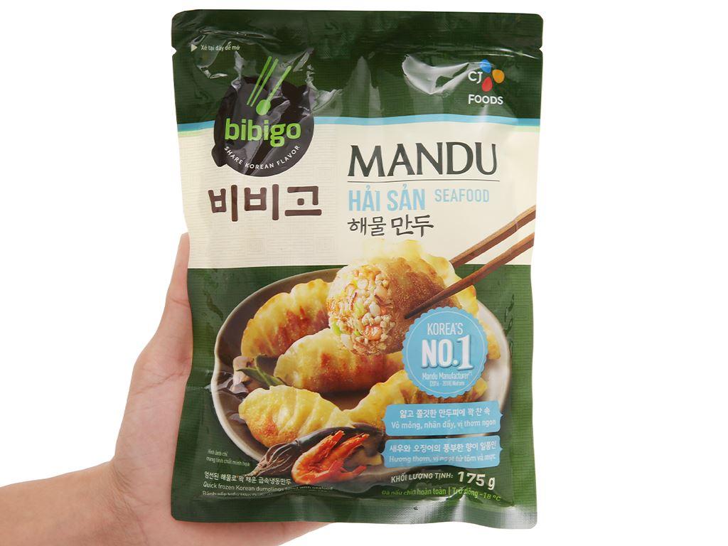 Bánh xếp Hàn Quốc nhân hải sản Bibigo gói 175g 4