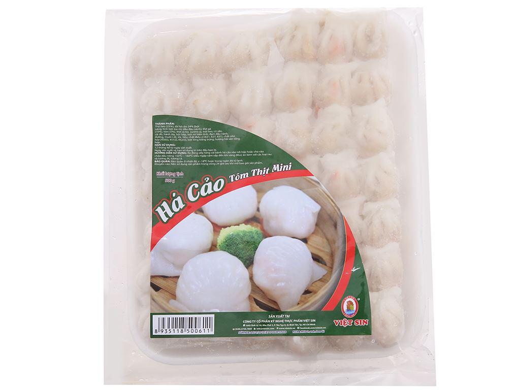 Há cảo mini nhân tôm thịt Việt Sin gói 500g 1