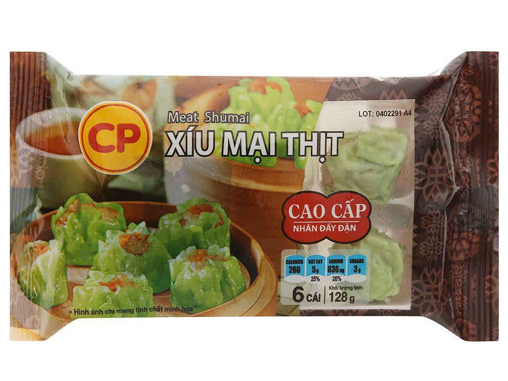 Xíu mại thịt C.P gói 128g 1