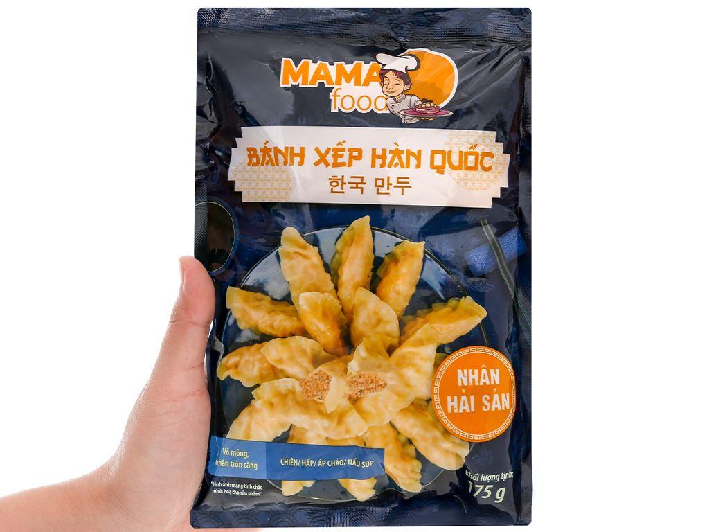 Bánh xếp Hàn Quốc nhân hải sản Mama Food gói 175g 4