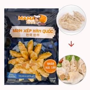 Bánh xếp Hàn Quốc nhân hải sản Mama Food gói 175g