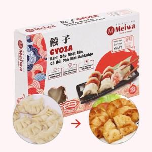 Bánh xếp Nhật Bản nhân cá hồi phô mai Meiwa hộp 250g