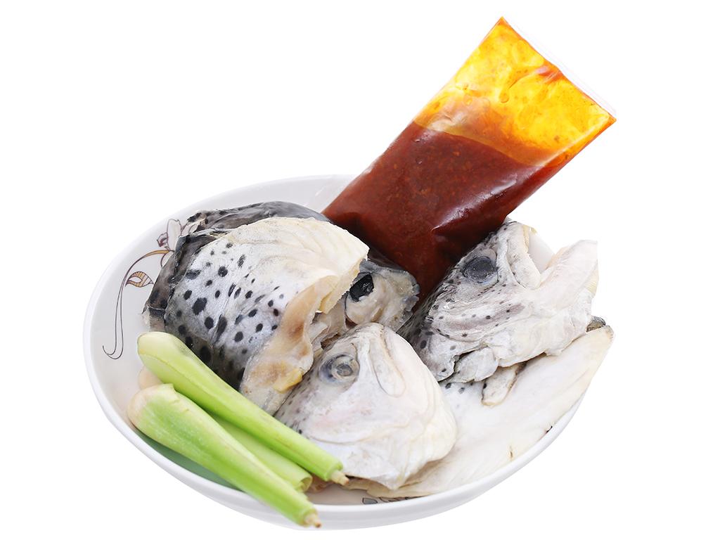 Lẩu đầu cá hồi Phi Long khay 500g 3