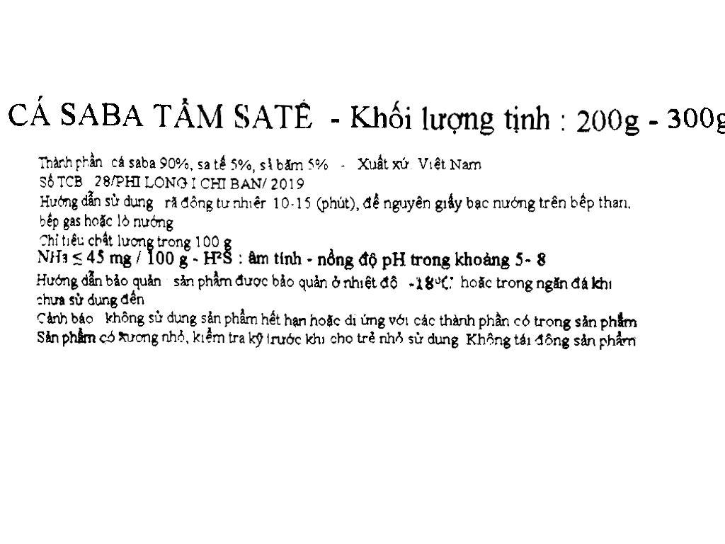 Cá saba tẩm sa tế Phi Long gói 200g - 300g 4