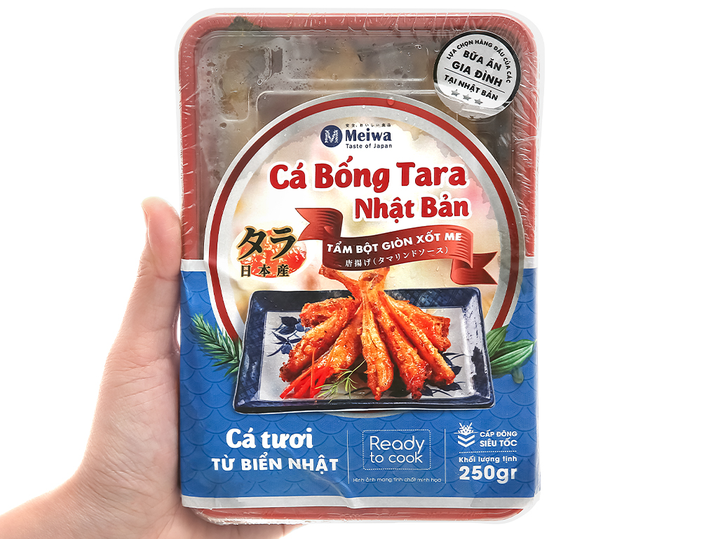 Cá bống Tara tẩm bột giòn xốt me Meiwa khay 250g 4