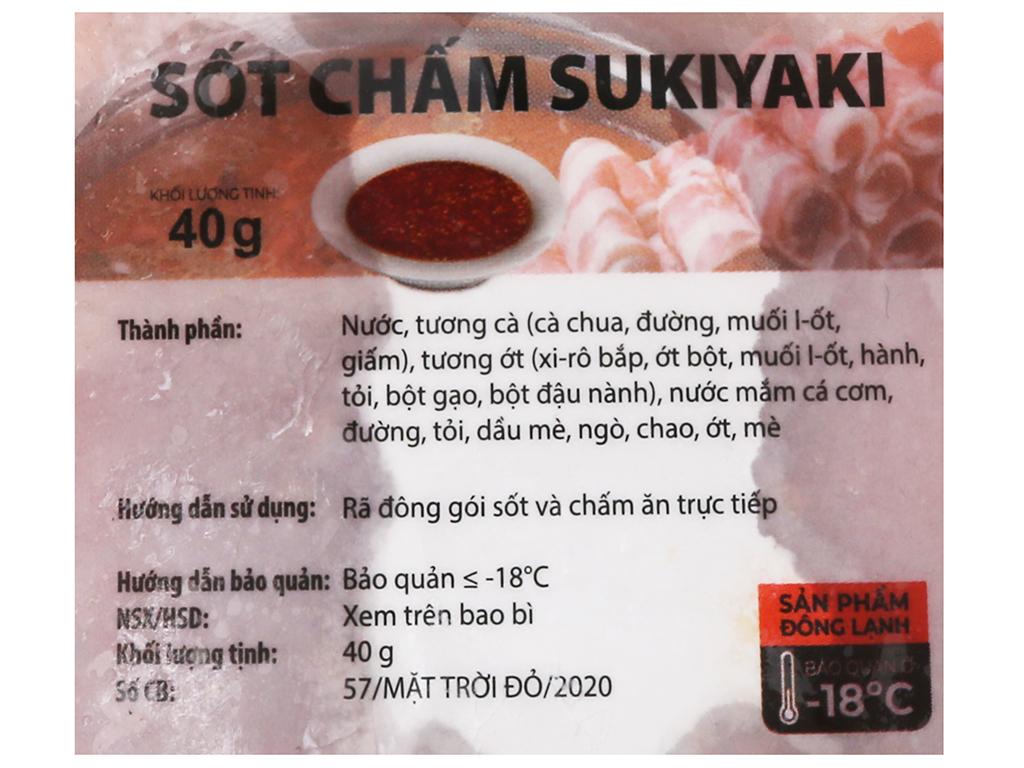 Ba chỉ bò Mỹ cắt cuộn chấm sốt Sukiyaki Orifood khay 500g 4