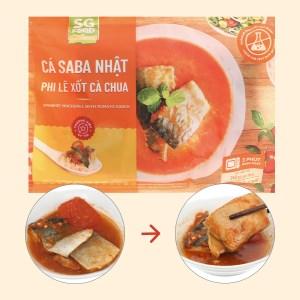 Cá saba Nhật phi lê xốt cà chua SG Food gói 240g