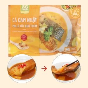 Cá cam Nhật phi lê xốt kho thơm SG Food gói 240g