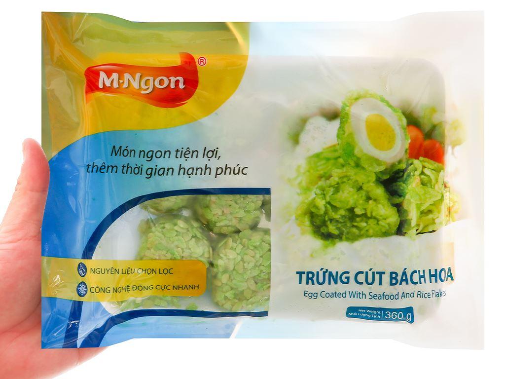 Trứng cút bách hoa M.Ngon gói 360g 4