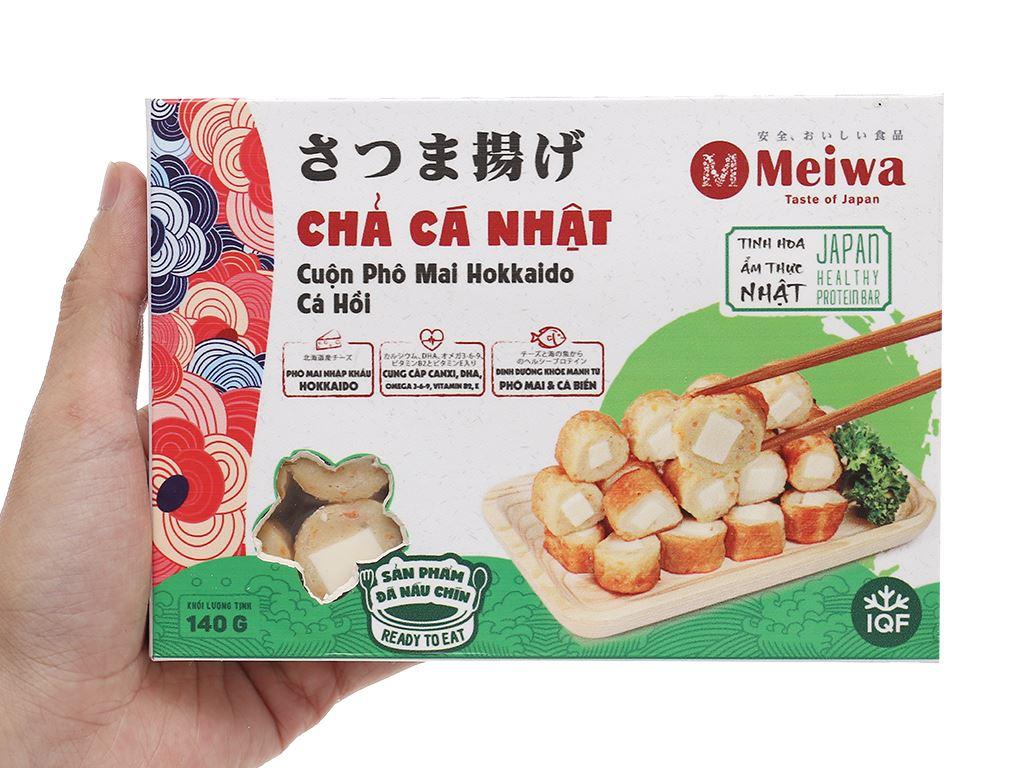 Chả cá Nhật cuộn phô mai vị cá hồi Meiwa hộp 140g 6