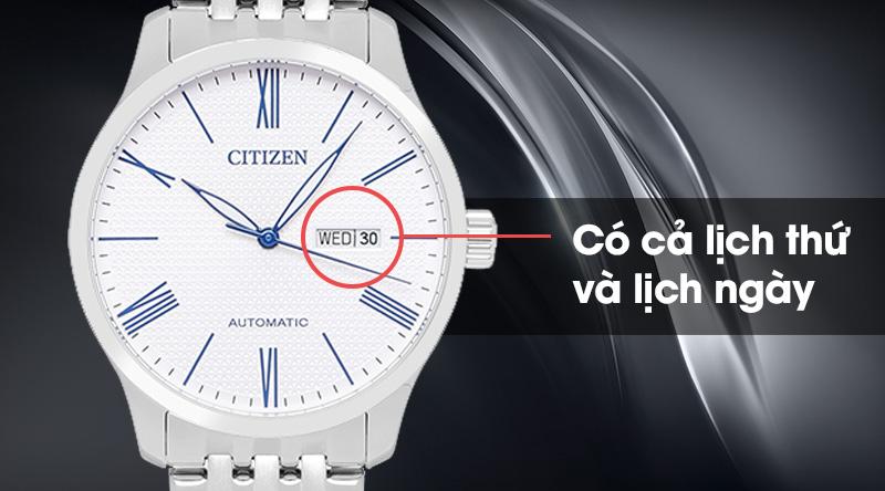 Đồng hồ nam Citizen NH8350-59B có cả lịch thứ và lịch ngày