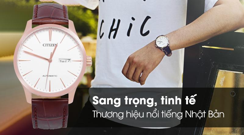 Đồng hồ Nam Citizen NH8353-18A - Cơ tự động có thiết kế sang trọng