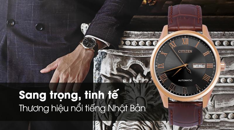 Đồng hồ Nam Citizen NH8363-14H - Cơ tự động có thiết kế sang trọng