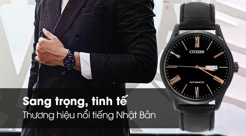 Đồng hồ Nam Citizen NH8365-19F - Cơ tự động có thiết kế sang trọng