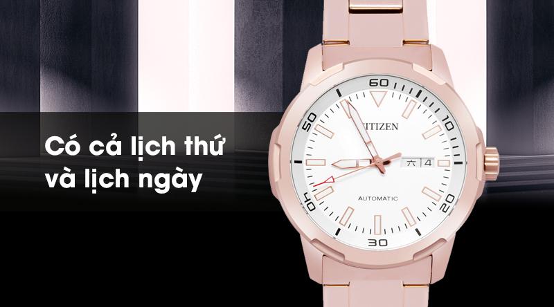 Đồng hồ Nam Citizen NH8373-88A - Cơ tự động có thêm lịch thứ, ngày