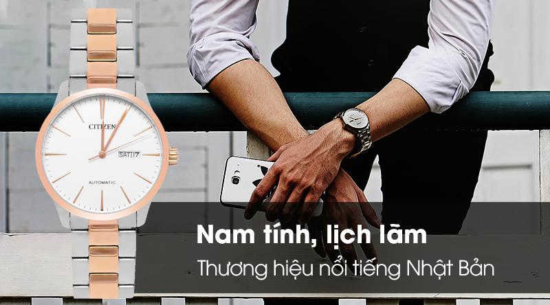 Đồng hồ Nam Citizen NH8356-87A - Cơ tự động thương hiệu nổi tiếng Nhật Bản
