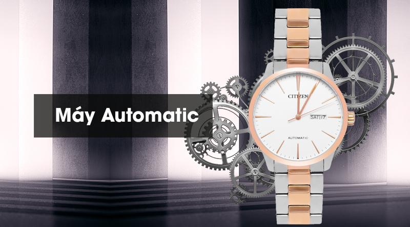 Đồng hồ Nam Citizen NH8356-87A - Cơ tự động là máy Automatic