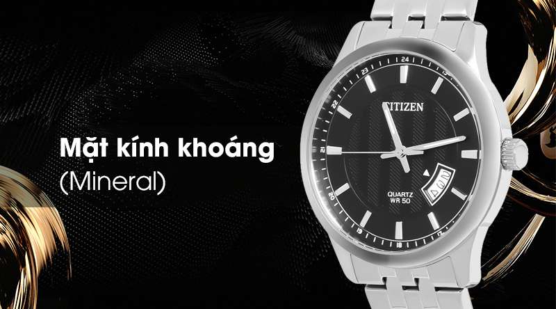 Đồng hồ nam Citizen BI1050-81E có mặt kính khoáng