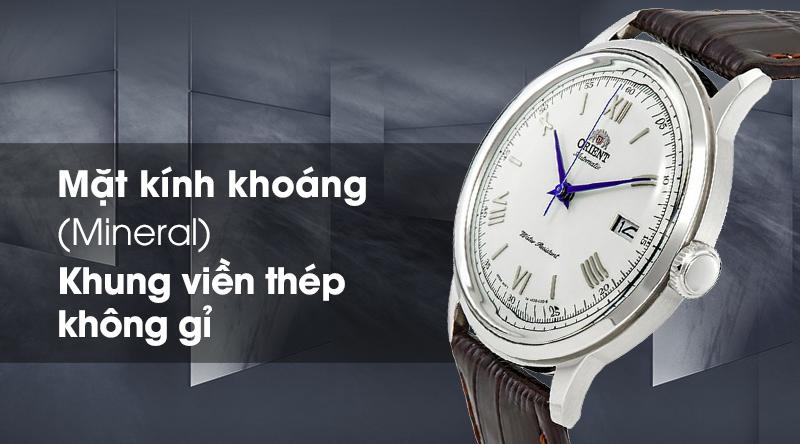 Đồng hồ nam Orient FAC00009W0 - Cơ tự động có mặt kính cứng cáp, khung viền chắc chắn
