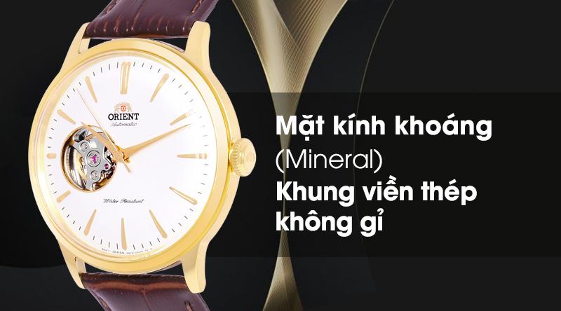 Đồng hồ nam Orient RA-AG0003S10B - Cơ tự động có mặt kính cứng cáp, khung viền sáng bóng, không gỉ