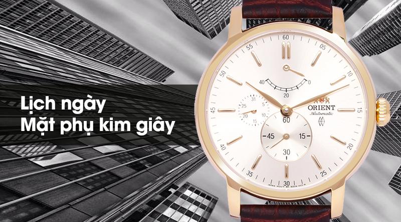 Đồng hồ nam Orient FEZ09002S0 có lịch ngày và mặt phụ kim giây tiện dụng