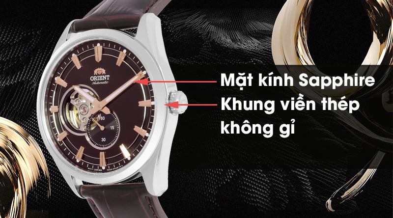 Đồng hồ nam Orient RA-AR0005Y10B có mặt kính cao cấp, khung viền chống ăn mòn