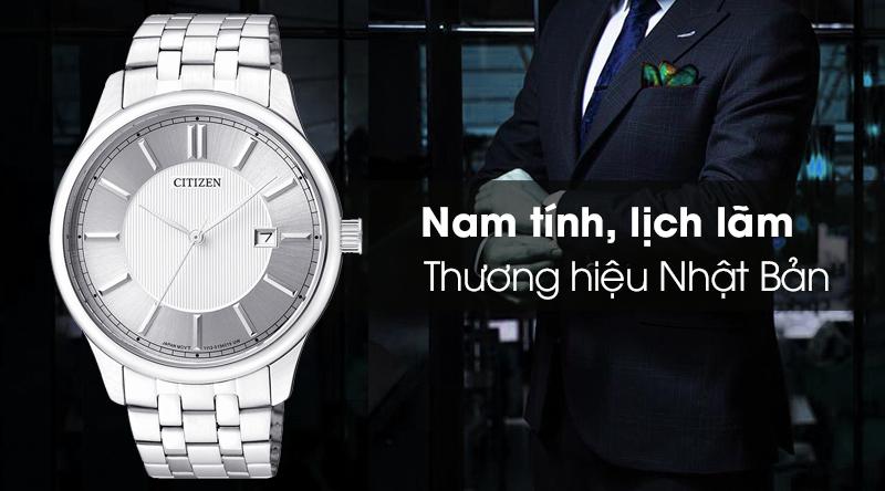 Đồng hồ nam Citizen BI1050-56A với thiết kế mạnh mẽ và nam tính