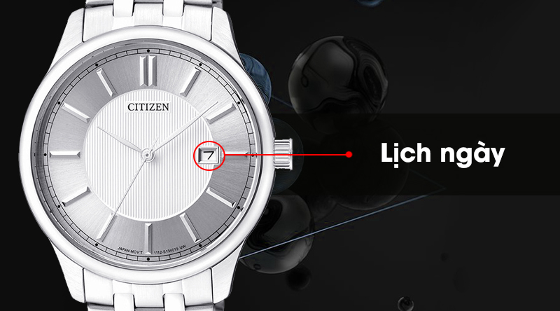 Đồng hồ nam Citizen BI1050-56A trang bị lịch ngày tiện ích
